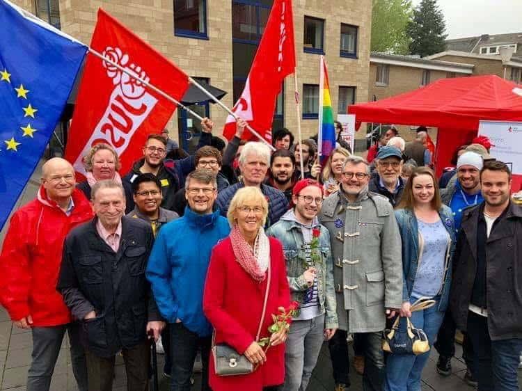 SPD Düren bei einer Maikundgebung